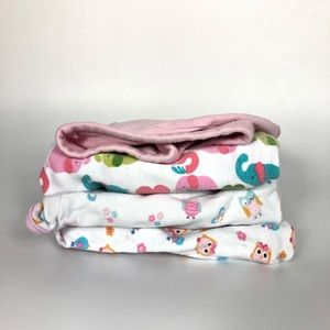 4 size small swaddle blankets baby girl